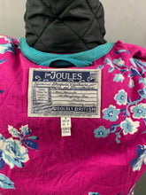 Load image into Gallery viewer, JOULES Ladies FAIRHURST Black QUILTED COAT Size UK 8 - XS Extra Small