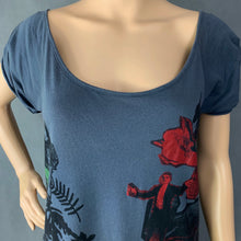 Load image into Gallery viewer, ALLSAINTS Ladies LOVE DEATH TEE Grey T-SHIRT TOP Size Extra Small XS TSHIRT