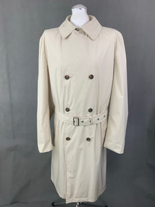 TOMMY HILFIGER Mens Beige TRENCH COAT / MAC JACKET - Size Large L
