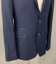 Load image into Gallery viewer, New TED BAKER Mens Cashmere Blend LAMPREY Navy BLAZER / JACKET Ted Size 4 Large L