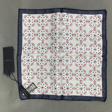 Load image into Gallery viewer, New TED BAKER White 100% Silk ANTPOC Pocket Square - BNWT