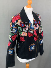 Load image into Gallery viewer, DESIGUAL Ladies Beautifully Embroidered COAT / JACKET - Size 42 - UK 14