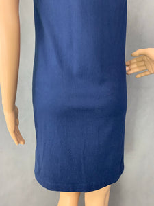 HENRI LLOYD Ladies Blue Cotton POLO SHIRT DRESS Size XS - UK 8