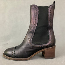 Load image into Gallery viewer, PHILOSOPHY DI ALBERTA FERRETTI Mid Heel Mid Calf CHELSEA BOOTS Size 37.5 - UK 4.5