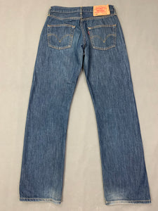 "LEVI STRAUSS &Co Mens LEVI'S Blue Denim 501 JEANS Size Waist 30""  Leg 31"" LEVIS"