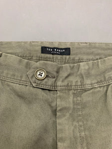 "TED BAKER Mens OUTLETZ Green Tapered Leg CHINOS / TROUSERS - Waist 32"" - Leg 32"""