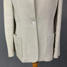 Load image into Gallery viewer, GIBIERRE GBR Ladies Beige 100% Linen BLAZER / JACKET Size IT 42 - UK 10