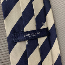 Load image into Gallery viewer, BURBERRY LONDON Mens Grey & Blue 100% SILK TIE with BURBERRY BRANDING