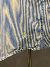 "Load image into Gallery viewer, MULBERRY Mens Blue Striped SHIRT Size 17.5"" Collar"
