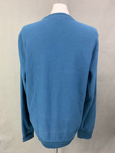 BURBERRY London Mens Blue Cotton JUMPER - Size XL Extra Large