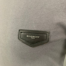 Load image into Gallery viewer, GIVENCHY Mens Grey Leather Logo Crew Neck T-SHIRT Size M Medium TEE / TSHIRT