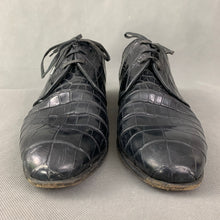 Load image into Gallery viewer, DOLCE & GABBANA Mens Mock Croc Black Leather Dress Shoes - Size UK 9 - EU 43