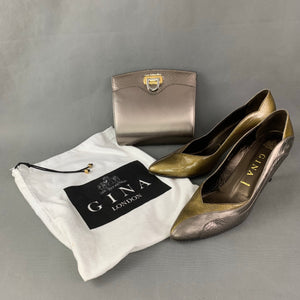 GINA Stiletto Heel COURT SHOES & Matching HANDBAG with Dust Bag