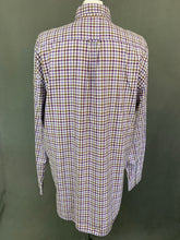 Load image into Gallery viewer, GANT Mens RIVER TWILL E-Z FIT Purple Checked SHIRT - Size XL Extra Large