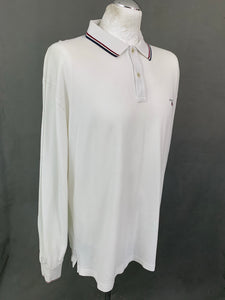 GANT Mens White Long Sleeved POLO SHIRT - Size 2XL XXL