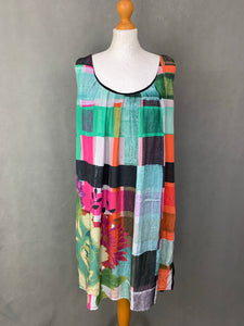 DESIGUAL Ladies Sleeveless Colourful DRESS - Size 46 - UK 18
