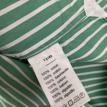 Load image into Gallery viewer, LACOSTE Mens Green Striped SHIRT - Lacoste Size 40 Medium M
