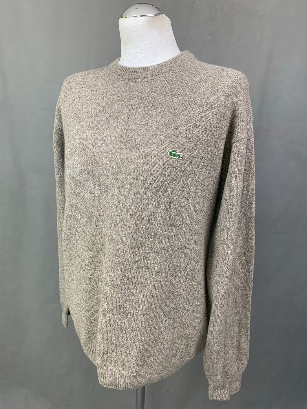 LACOSTE Mens Virgin Wool Crew Neck JUMPER Size 6 - Extra Large XL