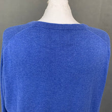 Load image into Gallery viewer, GANT Mens Blue V-Neck Premium Cotton JUMPER - Size 2XL - XXL