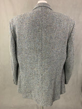 "Load image into Gallery viewer, HARRIS TWEED Grey BLAZER / JACKET Size 48R - 48"" Chest"