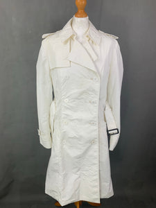 AQUASCUTUM Ladies White TRENCH COAT / MAC JACKET Size UK 14