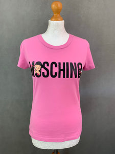 MOSCHINO COUTURE ! SS18 Jeremy Scott BETTY BOOP Pink T-SHIRT Size UK 10
