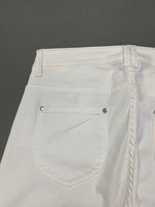 D.EXTERIOR Ladies White Denim Slim Fit JEANS - Size IT 42 - UK 10