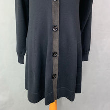 Load image into Gallery viewer, D.EXTERIOR Ladies Black Wool Blend Long CARDIGAN - Size LARGE L