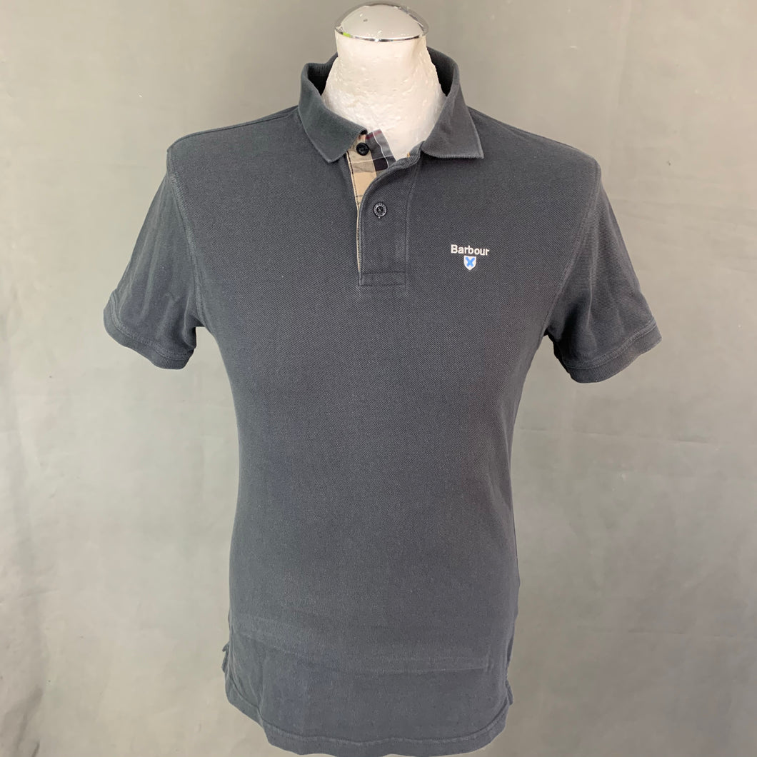 BARBOUR Mens Grey Short Sleeved POLO SHIRT - Size Small S