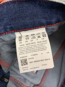 "HUGO BOSS Mens KANSAS Blue Denim Regular Fit JEANS Size Waist 38"" - Leg 30"""