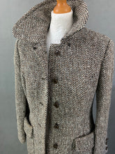 Load image into Gallery viewer, Vintage TWEED Ladies COAT / JACKET by HORROCKSES Size UK 8