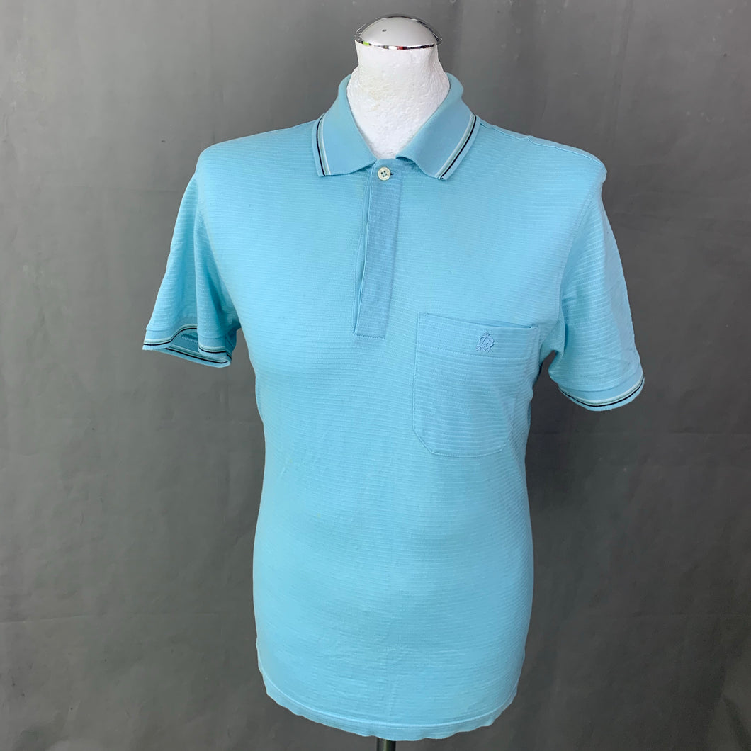DUNHILL London Mens Blue POLO SHIRT - Size S - Small