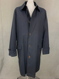 JAEGER Mens Navy Blue OVER COAT / MAC JACKET & Removable Liner Size Large L