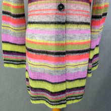Load image into Gallery viewer, MARC CAIN Ladies Colourful Striped Mohair Blend CARDIGAN Size N4 - UK 14