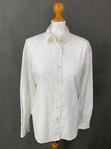 BARBOUR & PAUL SMITH Ladies White BLOUSE / SHIRT Size IT 44 - UK 12 M Medium