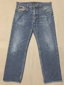"HUGO BOSS Mens SCOUT Blue Denim JEANS Size Waist 36"" - Leg 29"""