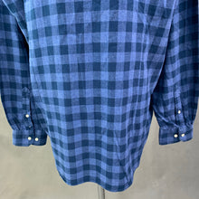 Load image into Gallery viewer, BARBOUR Mens Blue Checked CARSEN Flannel SHIRT - Size XXL / 2XL