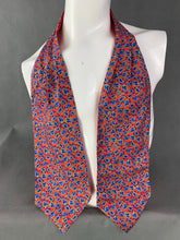 Load image into Gallery viewer, VAN BUCK Gentleman's Pure Silk Orange & Blue Paisley DRESS SCARF