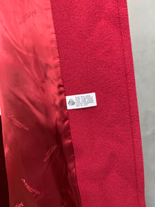AQUASCUTUM Ladies Red Virgin Wool COAT / OVERCOAT - Size UK 8
