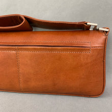 Load image into Gallery viewer, CLAUDIO FERRICI Brown Leather SHOULDER BAG / HANDBAG