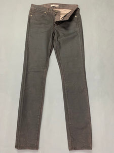 "RICH & SKINNY Ladies Bourbon Coated JEANS Size Waist 27"" Leg 31"""