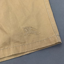 "Load image into Gallery viewer, BURBERRY Mens Light Brown Cotton SHORTS - Size 38"" Waist"