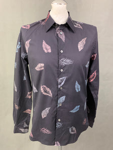 PS PAUL SMITH Mens Leaf Pattern SHIRT - Size Medium M