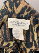 Load image into Gallery viewer, RALPH LAUREN Ladies Leopard Print Bell Sleeve SMOCK TOP Size XS Extra Small
