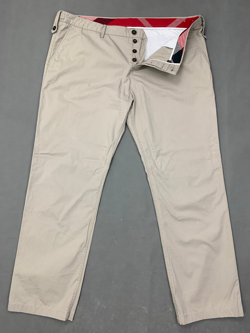 BURBERRY BRIT Mens Beige Cotton CHINOS / TROUSERS Size Waist 40