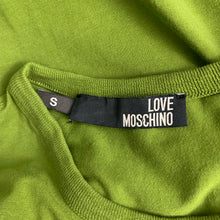 Load image into Gallery viewer, LOVE MOSCHINO Mens Green Crew Neck T-SHIRT Size Small S - TEE / TSHIRT