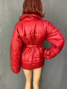 NORMA KAMALI Ladies ICONIC Red SLEEPING BAG COAT Size XS / S