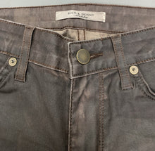 "Load image into Gallery viewer, RICH & SKINNY Ladies Bourbon Coated JEANS Size Waist 27"" Leg 31"""