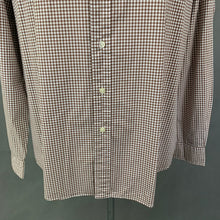 Load image into Gallery viewer, RALPH LAUREN Mens Brown Check Pattern SHIRT Size L - Large