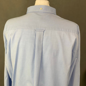 GANT Mens PINPOINT OXFORD Blue SHIRT - Size 2XL XXL